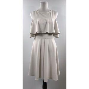 Symphony White Semi Formal Dress